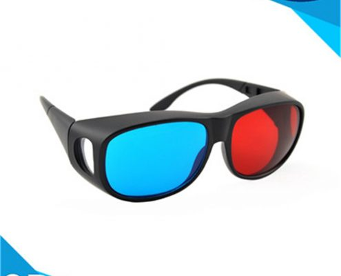 plastic red cyan glasses with pet material