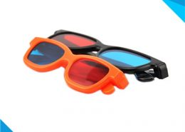 plastic red blue 3d glasses with pet material