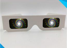 christmas spiral rainbow glasses