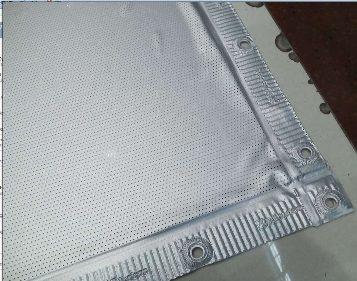 perforated silver screen hony3d