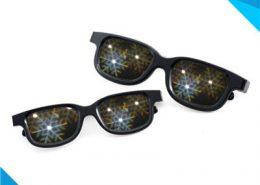 plastic sknowflake fireworks glasses