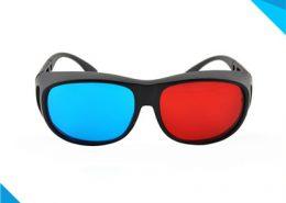 plastic red cyan 3d glasses