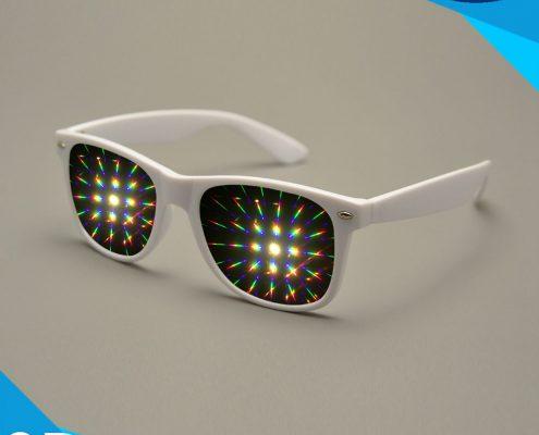 diffraction glasses white