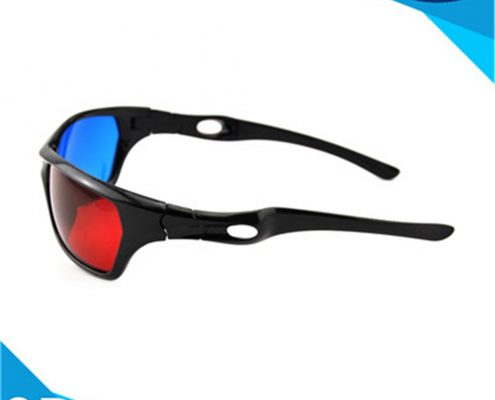 red and blue 3d glasses with pet materials