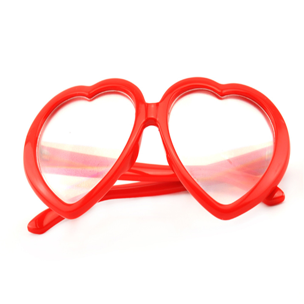 christmas heart shape glasses