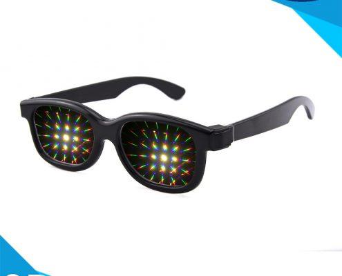 plastic prism diffraction glasses
