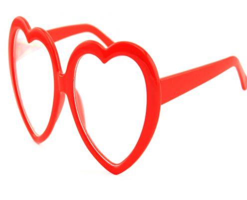 heart diffraction glasses plastic