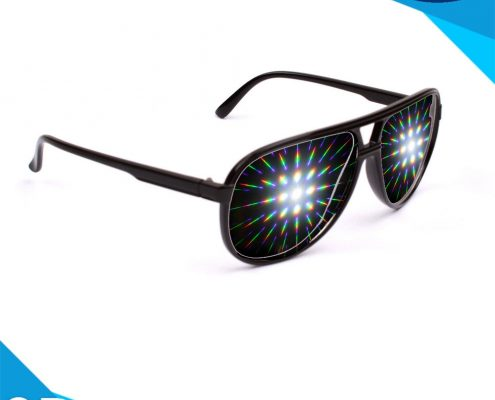 black frame diffraction glasses