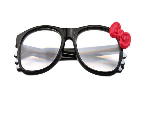 plastic kitty rainbow glasses