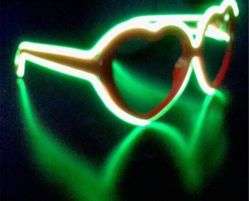 green el wire red frame diffraction glasses