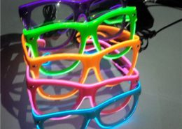 plastic el wire glasses