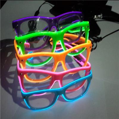 plastic el wire glasses