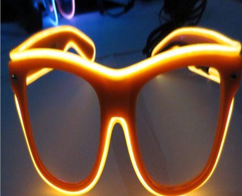 orange el wire rainbow glasses