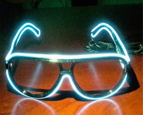 funky amazing el wire glasses