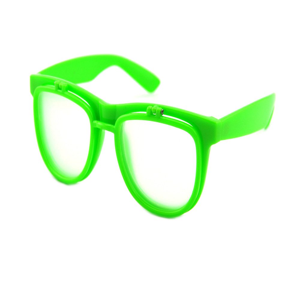clear diffraction flip up glasses
