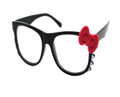 plastic kitty clear glasses