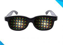 rainbow plastic frame glasses