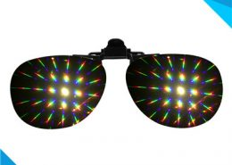 plastic rainbow diffraction clip on style