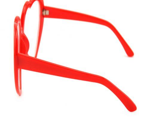 red heart rainbow plastic glasses