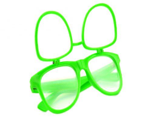 double diffraction glasses plastic flip up