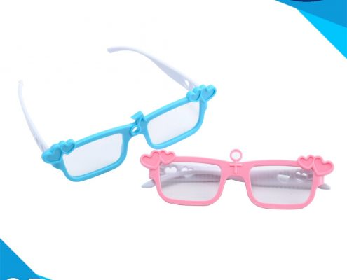 heart shape rainbow glasses