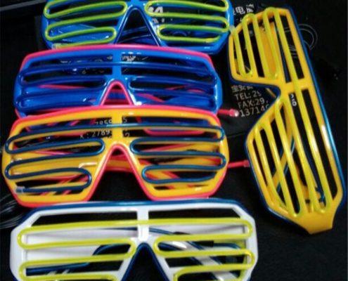 celebratioin colorful el wire glasses