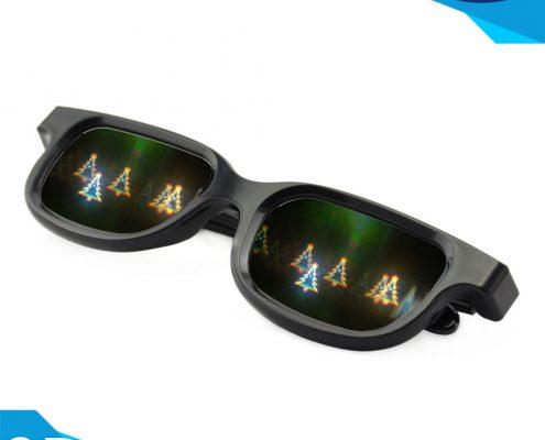 Rainbow firework glasses plastic