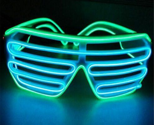plastic shutter el wire glasses